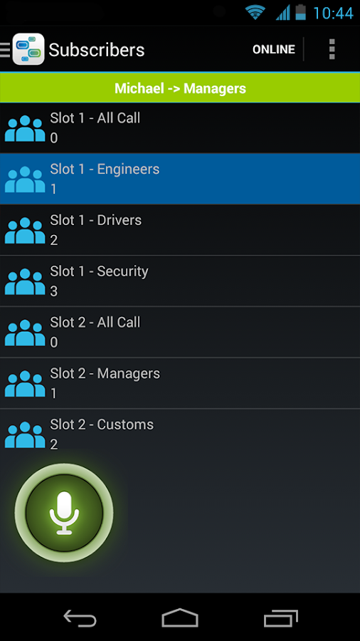 SmartPTT Mobile- screenshot