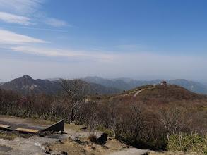 山頂から鈴鹿南部の様子