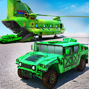 US Army Humvee Jeep Car Transporter - Parking Game