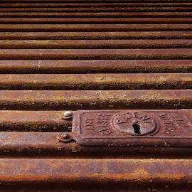 Rusty roller shutter by Michal Fokt - Artistic Objects Antiques ( rust, roller shutter )