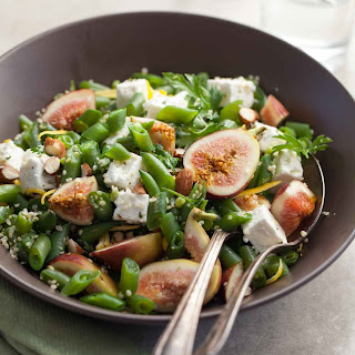 Lemony Green Bean Salad with Figs and Feta