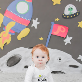 Peter by Jenny Hammer - Babies & Children Child Portraits ( birthday, baby, cute, boy, space )