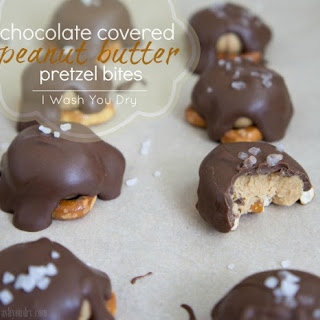 Chocolate Covered Peanut Butter Pretzel Bites