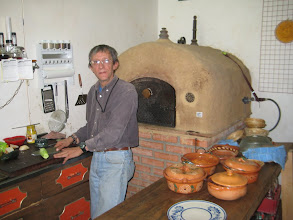 "Photo: Alberto ""Lefty"" Izquierdo makes the best tortas in GTO in this oven he designed and built.  He lived in Italy and combines the best of both cuisines"