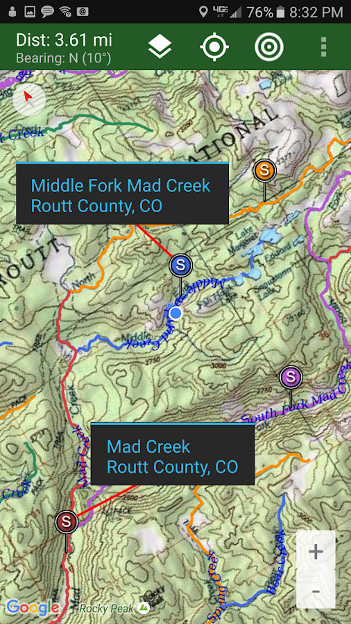 Stream Map USA - Mountain West- screenshot