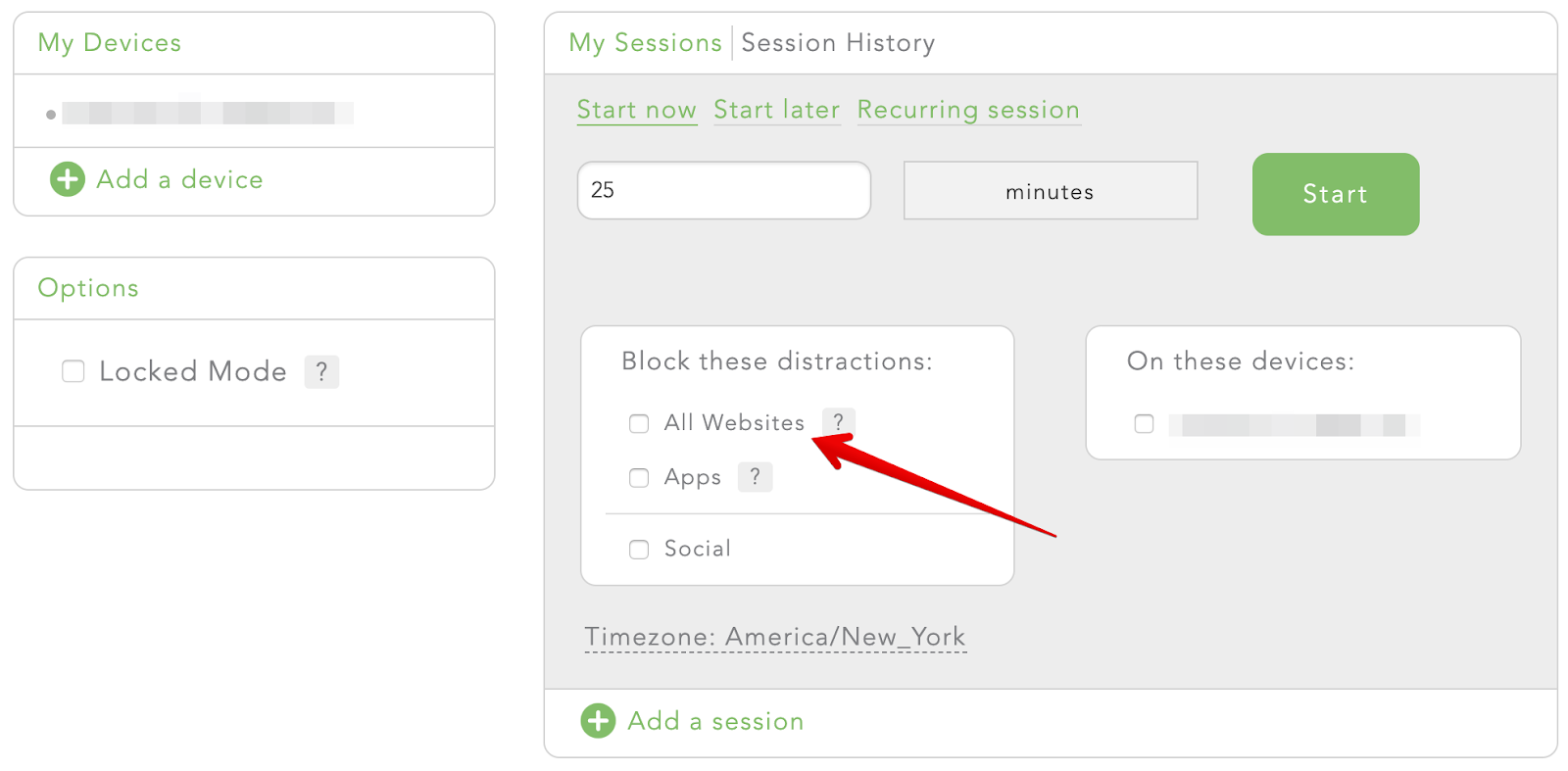 To block the internet select the Block All Websites option in your Freedom dashboard