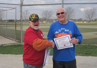 Photo: Sir you won your age group and at 76 running today and finishing was just awesome Great job Sir you did great.