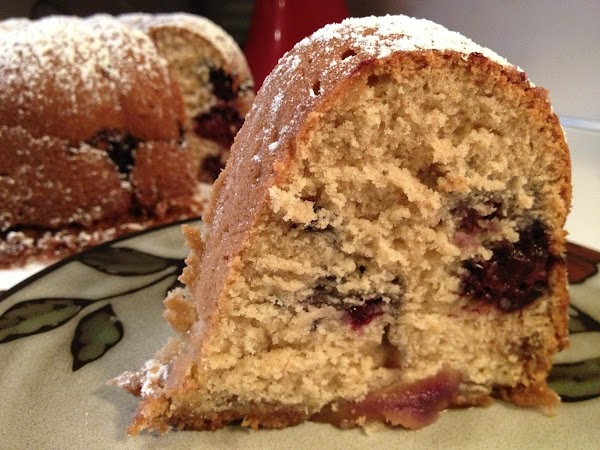 Blackberry And Peach Coffee Bundt Cake Recipe