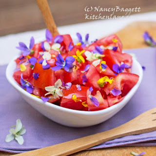 Tomato Salad and Spring Violet Vinegar