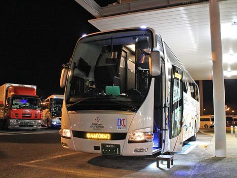 関東バス「ドリームスリーパー東京大阪号」 ・・・1 足柄SAにて その2