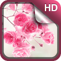 Pink Flowers Live Wallpaper HD icon