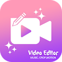 Justcrop - Video Editor With Music icon
