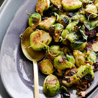 Sautéed Brussels Sprouts with Lemon Garlic Butter.
