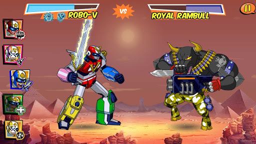 Robo-V chiến đấu với quái vật trong Run Run Super V