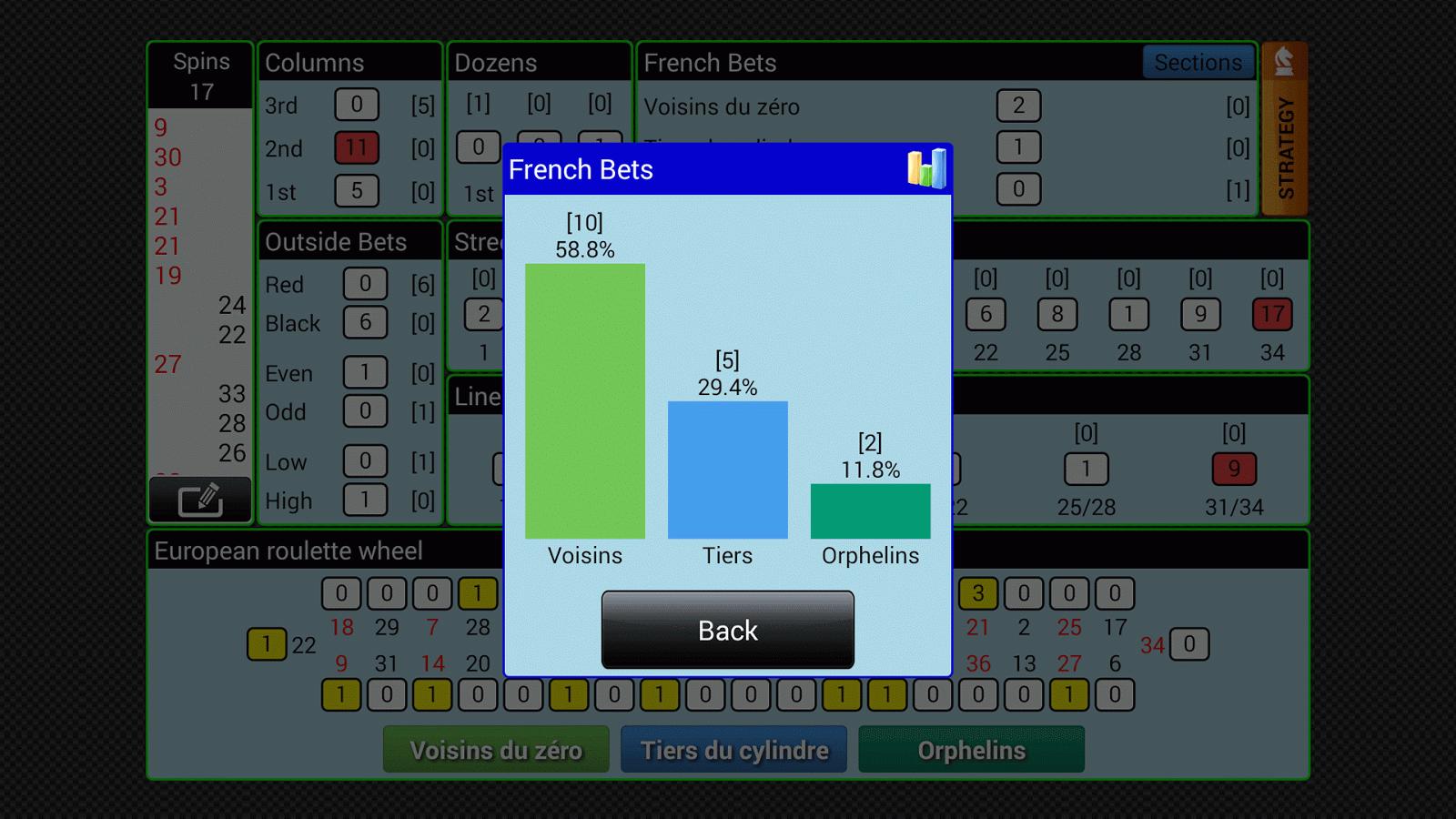 Smart Roulette Tracker- screenshot