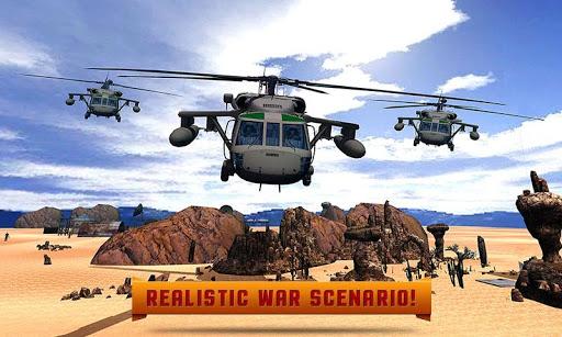 军队直升机计数器战斗