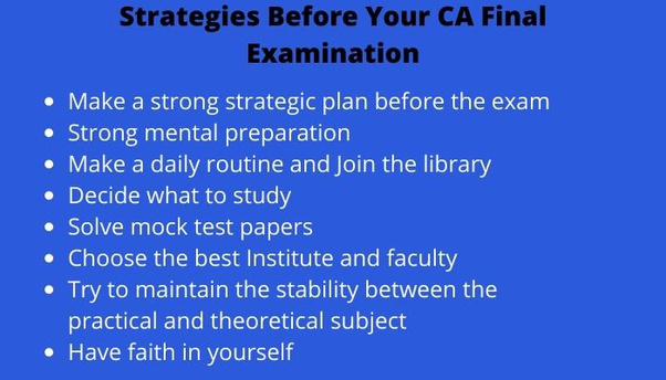 CA Final Revision Strategies: