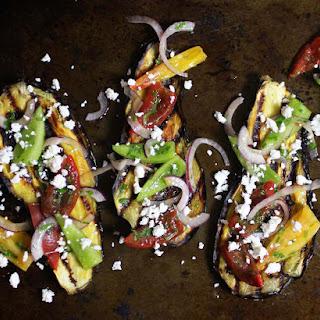 Greek Grilled Eggplant and Tomato Salad