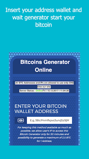 BitGen - BitCoin Generator  screenshots 1