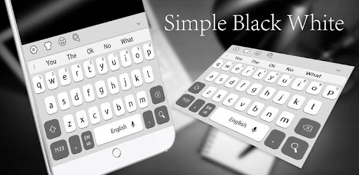 Simple Black White Keyboard for PC