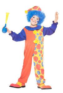 Clowndräkt med hatt, barn