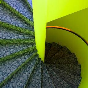 Stairway to Crazy by Harvey Horowitz - Buildings & Architecture Other Interior