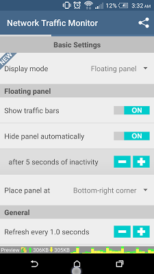 Network/Data Traffic Monitor - screenshot