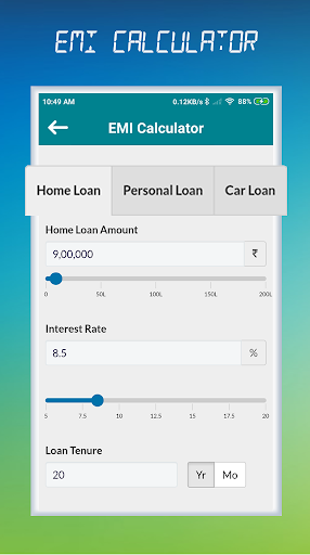 Emi Calculator All Loan Calc Free App Report On Mobile Action