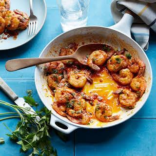 Garlic Seared Shrimp.