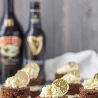 Chocolate Guinness Mini Cakes With Baileys Buttercream.