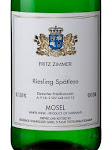 Fritz Zimmer Riesling Spätlese Mosel
