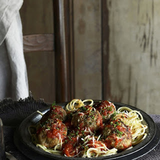 Roman Holiday Spaghetti Meatballs with Rich Tomato Sauce