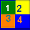 Hebrew flashcards: numbers icon