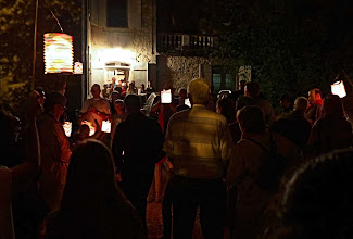 Photo: Retraite aux Flambeaux (torchlight parade), another regular feature of the SMDV village fete
