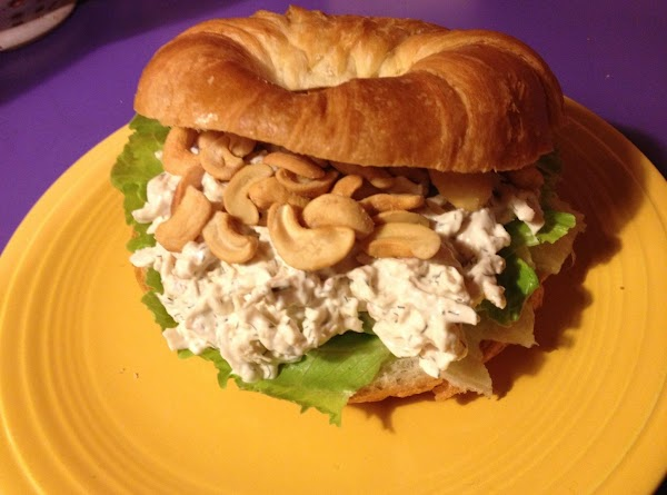 Dilled Chicken Salad With Cashews On Croissants Recipe