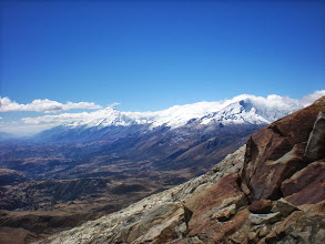 Photo: First glimpse of the north of the Cordillera Blanca as I topped the ridge.