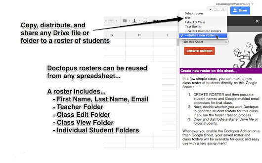 Doctopus - Google Sheets add-on