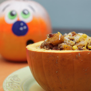 Roasted Pumpkin & Sausage Quinoa Bake