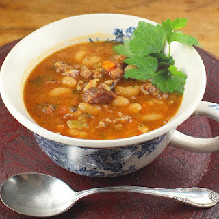 Crock Pot Italian Cannellini Bean Soup.