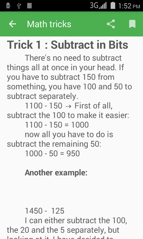 1100 Math Tricks- screenshot
