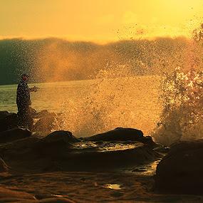 Fishing by Kaushik Bera - Landscapes Waterscapes ( , #GARYFONGDRAMATICLIGHT, #WTFBOBDAVIS )
