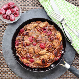 Chocolate Raspberry French Toast Skillet.