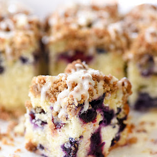 Blueberry Buckle Recipe with Lemon Glaze