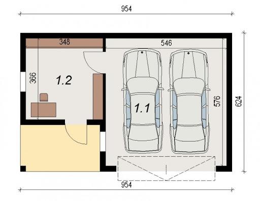 AD-G3.2 - Rzut garażu
