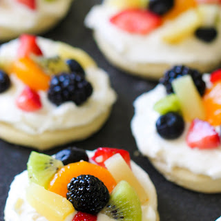 Mini Sugar Cookie Fruit Pizza.