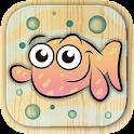 Paint aquatic sea animals icon