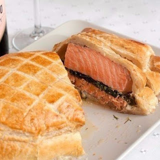 Salmon Baked In Pastry