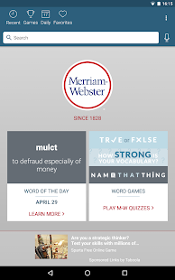 Dictionary - Merriam-Webster Hack for the game