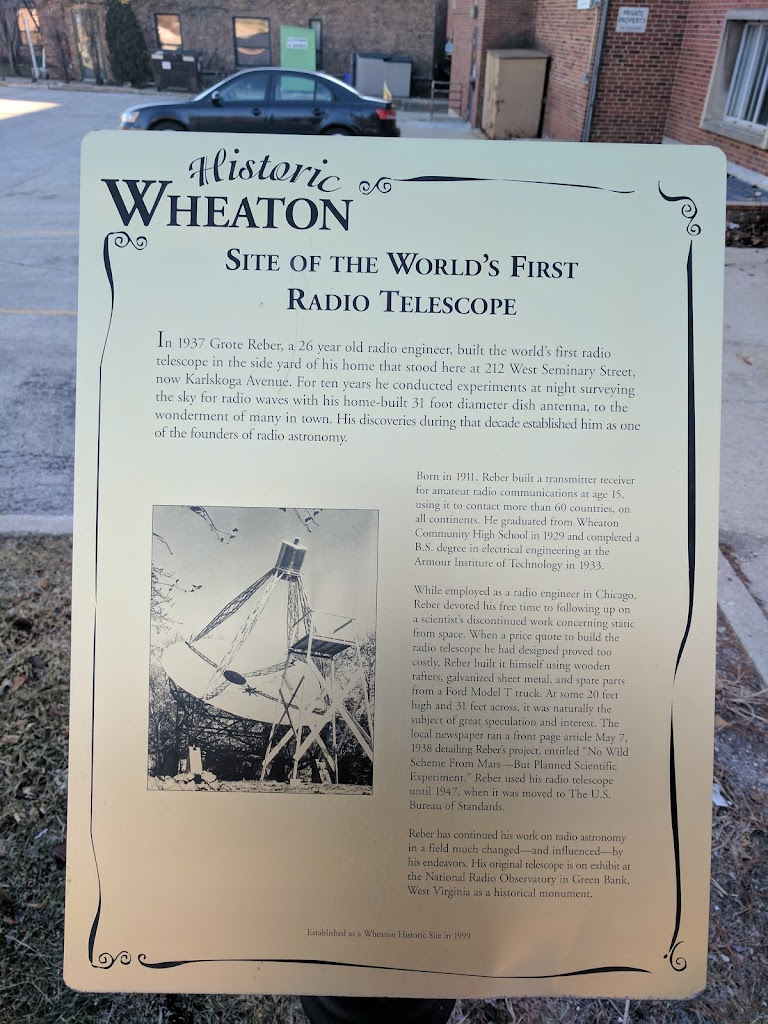 Read the Plaque - Site of the World's First Radio Telescope