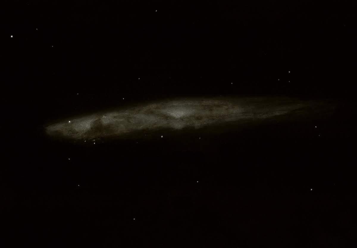 Photo: NGC 4945,  longue galaxie diaphane dans le Centaure. T406 à 130X depuis l'Afrique du Sud (Savanah Suntours), noirceur et transparence excellentes.